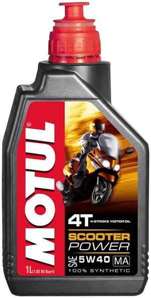 Масло моторное  SCOOTER POWER 4T 5W-40 MA  1л. MOTUL 832001